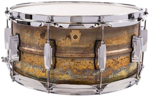 "Ludwig Raw Brass Snare Drum - 6.5"" x 14"""