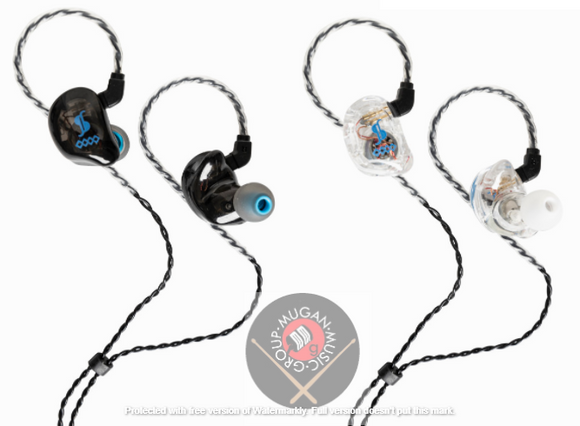 Stagg Model Dual Driver in Ear Stage Monitor - 1 Pair (Black/Transparent)
