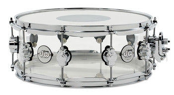 DW Design Series 5.5x14 Snare Drum - Clear Acrylic