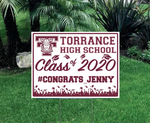 Customizable High School Graduation Sign
