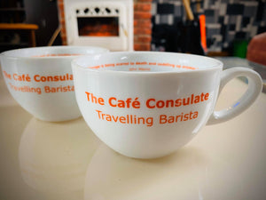 Cafe Consulate Ceramic 10oz coffee cup - limited edition