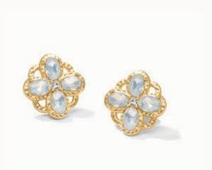 Rocco Stud Earrings White Opal*
