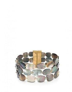 Shell Point Layered Bracelet