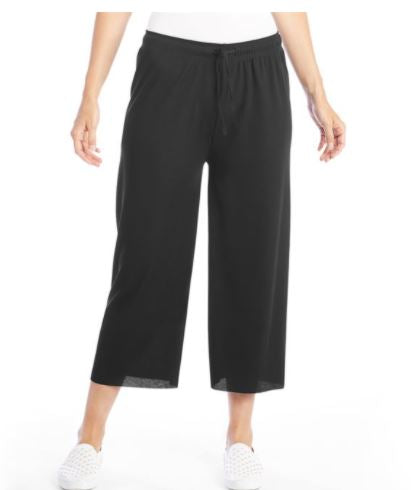 Sundry Wear All Day Rib Knit Pant Black