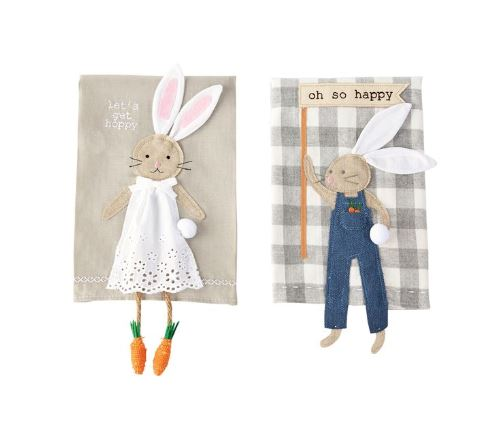 Bunny Dangle Leg Towels