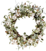 EUCALYPTUS COTTON WREATH
