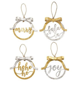 Metallic Foil Bow Ornaments