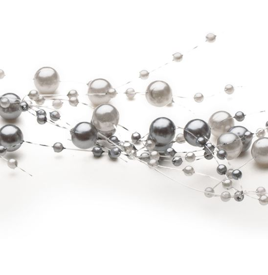 Gray Bead Garland