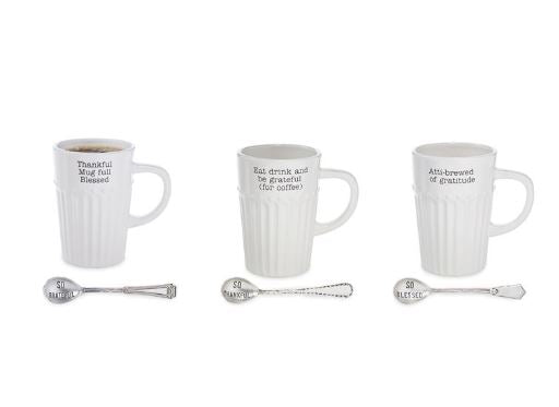 Thanksgiving Sentiment Mug Set