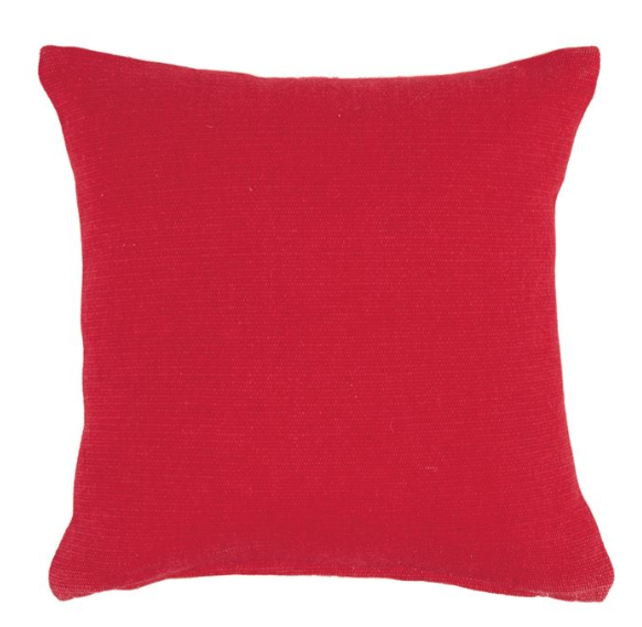 Grain Sack & Red Canvas Reversible Pillow