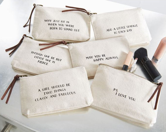 Canvas Cosmetic Pouch*