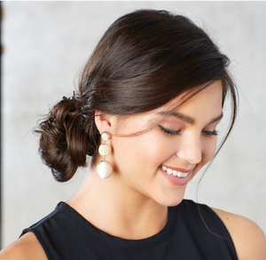 TIERED DROP BALL STATEMENT EARRINGS