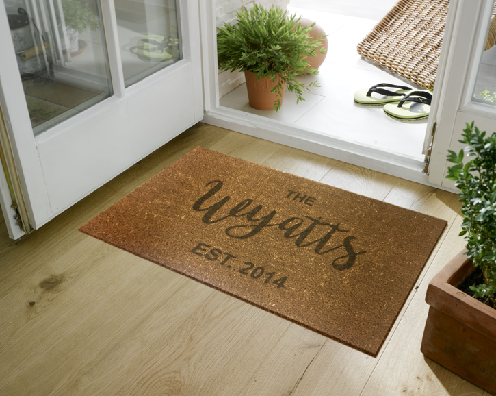Personalized Faux Coir (Small or Large)