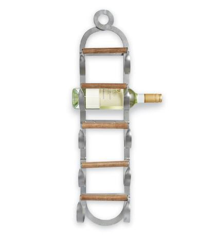 METAL & WOOD WINE RACK