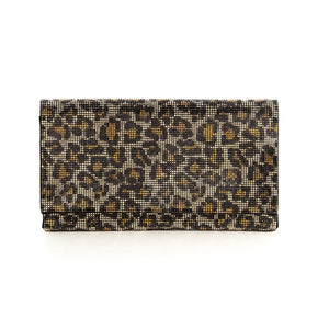Shiraleah Kass Clutch, Leopard Bling