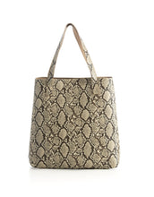 Load image into Gallery viewer, Shiraleah Daria Reversible Tote, Black/Snakeskin