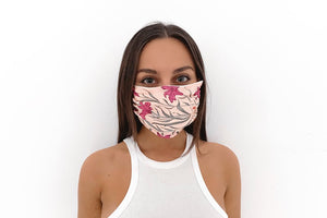 Pretty Girl Face Mask, Pleated Paisley