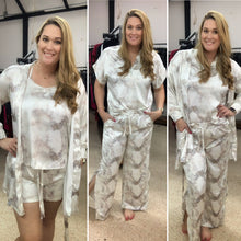 Load image into Gallery viewer, Gold Satin Tie Dye PJ Set