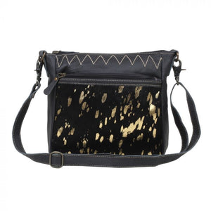Myra Ziggy Leather and Hairon Bag