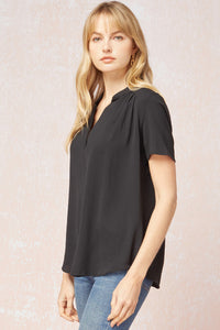 Black V-Neck Top