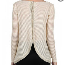 Load image into Gallery viewer, Cream/Gold Cream Knit Top with Open Back