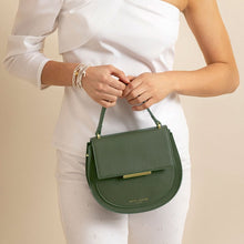 Load image into Gallery viewer, Katie Loxton Alyce Saddle Purse: Khaki Green