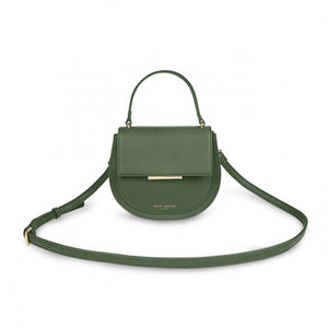 Katie Loxton Alyce Saddle Purse: Khaki Green