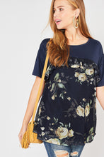 Load image into Gallery viewer, Navy Floral Top