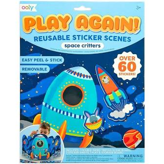 Ooly Play Again! Reusable Sticker Scenes: Space Critters
