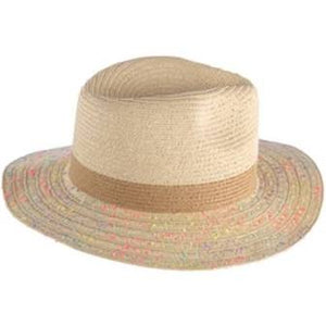 Shiraleah Vargas Straw Hat with neon flecks