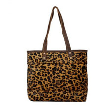 Load image into Gallery viewer, Myra Leopard Clinch Leather and Hairon Bag