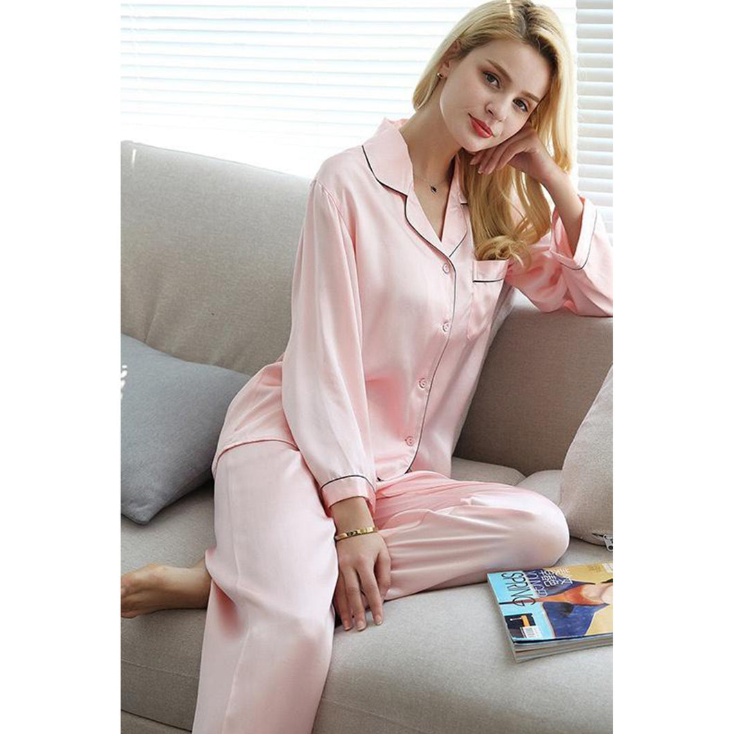 Women's 2 Piece Silk Pajama Nightwear
