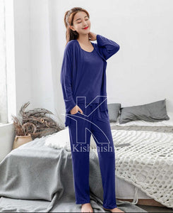 3 piece Night Dress For Women-Splash Colours
