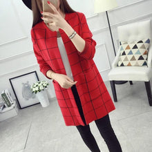 Load image into Gallery viewer, Check Style Long Coat For Women