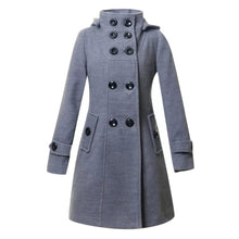 Load image into Gallery viewer, Winter Long Coat With Belt For Women-Splash Colours