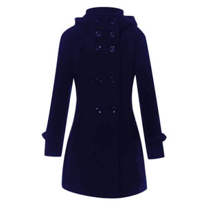 Winter Long Coat With Belt For Women-Splash Colours