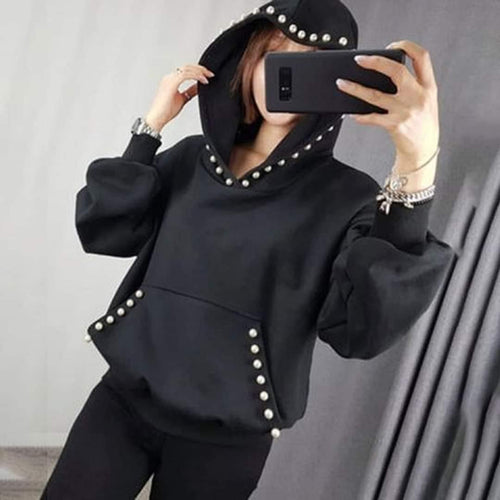 Hoodie With Pearls For Women