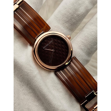 MK Ladies Brown Strap Watch