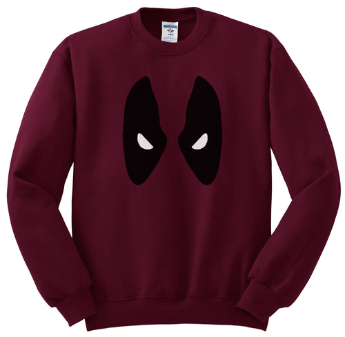 Deadpool Eyes Maroon Sweatshirt