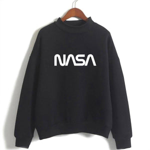 NASA Black/White Sweatshirt For Womens-Splash Colours