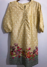 Load image into Gallery viewer, Golden With Colourful Floral Style Kurti-Lawn-Splash Colours