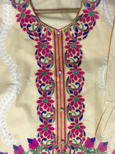 Load image into Gallery viewer, Desi Style Kurta With Buttons And Fully Embroidered-Cotton-Splash Colours