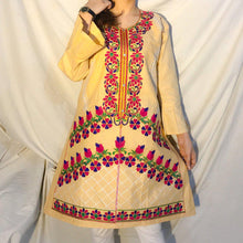Load image into Gallery viewer, Desi Style Kurta With Buttons And Fully Embroidered