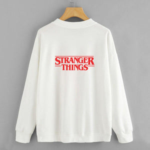 STRANGER THINGS WHITE Sweatshirt For Women-Cotton-Splash Colours
