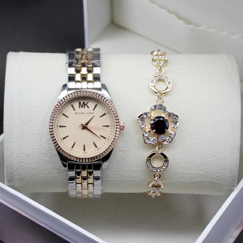 Michael Kors Pink Dial Modern Style Ladies Wrist Watch
