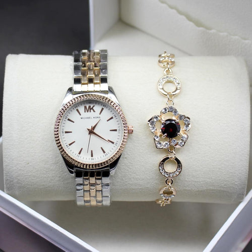 Michael Kors White Dial Modern Style Ladies Wrist Watch