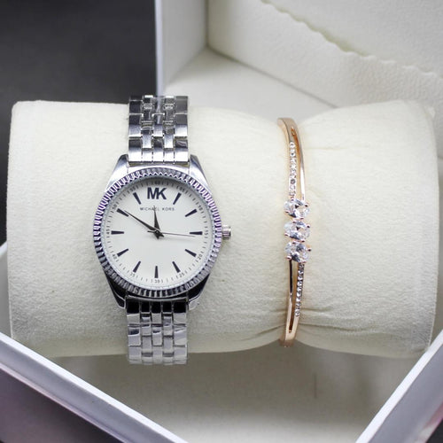 Silver Michael Kors Modern Style Ladies Wrist Watch