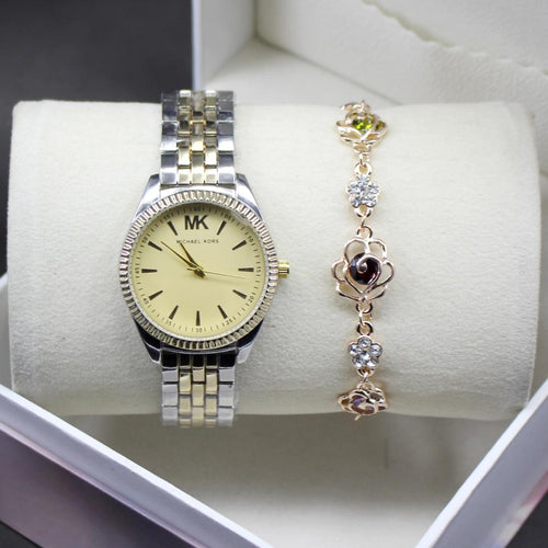 Michael Kors Yellow Dial Modern Style Ladies Wrist Watch