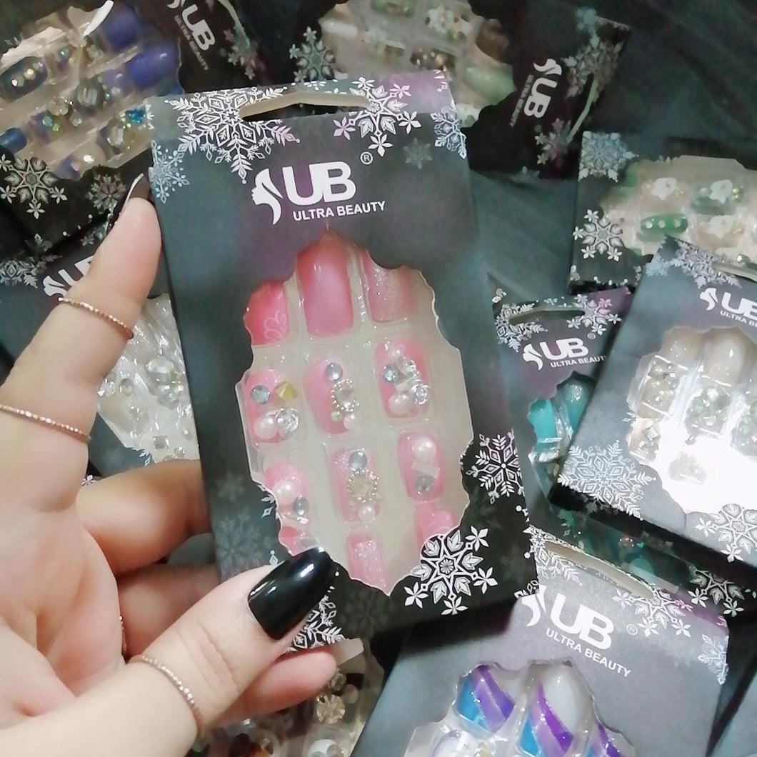 Ultra Beauty 3D Stone Nails Soft Pink