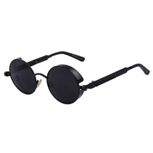 Load image into Gallery viewer, Round Metal Steam Punk Sunglasses With Box
